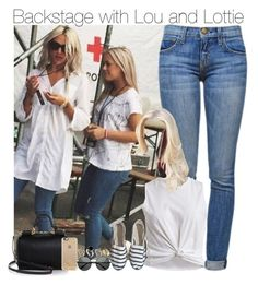 """Backstage with Lou and Lottie"" by directioner-fashion-453 ❤ liked on Polyvore featuring Current/Elliott, VILA, Dolce&Gabbana, Casetify and New Look"