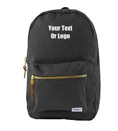 DG Custom Graphics is your premier site for custom designed apparel.    NOTE: BLACK will be back in stock December 18th, 2016. Pre-orders are accepted.     We can design your polycotton canvas backpack with your custom artwork, text or business logo.  Great for school backpacks with logo, mascot and personalization. Forward your artwork with one color. If additional colors are needed we can provide a custom quote.    Forward us the following info and we will send you a proof of the finished…