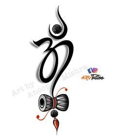 Ohm Tattoo, Ganesh Tattoo, Lotus Tattoo, Ganesha Art, New Tattoos, Hand Tattoos, Small Tattoos, Sleeve Tattoos, Maa Paa Tattoo