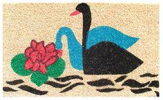 Imports Decor Swans Doormat