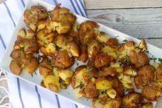 Crispy Duck Fat Smashed Potatoes