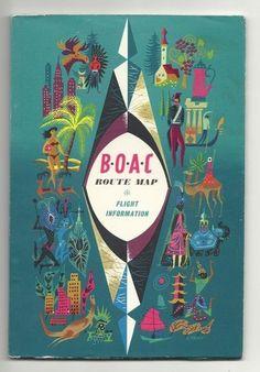 inflight magazine 1960 - designed by Laban British European Airways, British Airline, Vintage Travel Posters, Vintage Airline, Airline Travel, Travel Companies, Air Show, Booklet, Retro Vintage