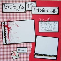 BABY'S FIRST HAIRCUT boy girl 12x12 Premade by JourneysOfJoy