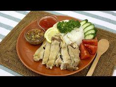 炊飯器で炊き込むだけ!『シンガポールチキンライス』【もぐー】 - YouTube