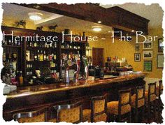Hermitage House Bar - great atmosphere, wonderful staff - a great place for bar food and a social drink. Wonderful grounds for Al Fresco refreshments in summer. House Bar, Bar Food, Bars For Home, Fresco, Great Places, Liquor Cabinet, Spaces, Mountains, Drink