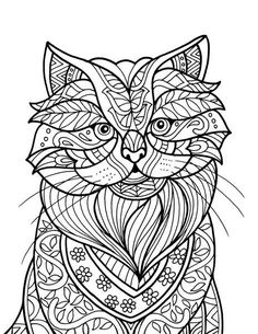 Cat colouring page | Introduction To ColorIt Download Pack Of 20 Drawings