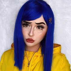 Do you know what youre dressing up as this Halloween? created this creepy Coraline look using our Diana Matte Liquid Lipstick . Coraline Halloween Costume, Best Friend Halloween Costumes, Diy Halloween Costumes For Women, Halloween Kostüm, Halloween Outfits, Tim Burton Halloween Costumes, Celebrity Halloween Costumes, Cool Halloween Makeup, Halloween Makeup Looks