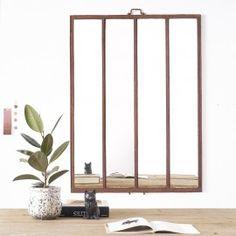Miroir d'usine II - desuet.fr Oversized Mirror, Table, Room, Furniture, Home Decor, Window Casing, Mirror, Objects, Deco