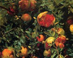"""Pomegranates, Majorca"", 1908 ~ John Singer Sargent"