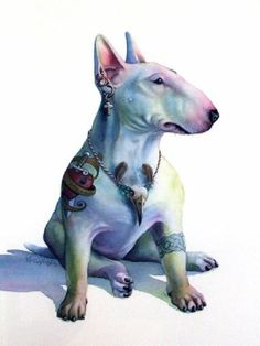 by Nick Eggleston Chien Bull Terrier, Bull Terrier Funny, Toy Yorkshire Terrier, Photo Animaliere, Bully Dog, English Bull Terriers, Dog Art, Dog Life, I Love Dogs