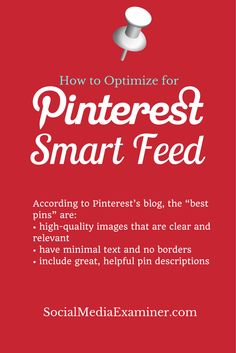 How to optimize your #Pinterest smart feed?