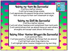 Funky First Grade Fun: Helping Each Other Be Successful
