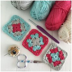 Throw back to the start our first summer table runner,I'm guessing we should be … - Örgü Modelleri Crochet Granny, Knit Crochet, Knitting Projects, Crochet Projects, Knit Pillow, Yarn Brands, Square Tables, Crochet Hooks, Knitted Hats