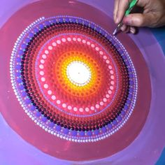 This dot mandala is one of my favorites Mandala Art, Mandala Canvas, Mandala Stencils, Mandala Rocks, Mandala Drawing, Mandala Painting, Deco Boheme, Record Art, Dot Art Painting