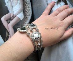 19 отметок «Нравится», 1 комментариев — Гребенек Ирина (@irinagrebenek) в Instagram: «#irinagrebenek #new #handmade #FashionJewellery #trending #stylish #accessories_forladies…» Fashion Jewelry, Stylish, Bracelets, Instagram Posts, Silver, Handmade, Hand Made, Trendy Fashion Jewelry, Bracelet