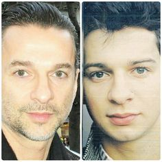 Same beautiful, sweet eyes...what a wonderful soul ♡♡ Dave Gahan