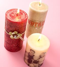 Pictures on candles - How cool!