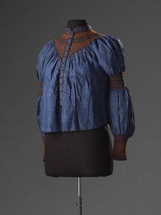 Blouse, 1900-1910, shantung zijde, collectie Amsterdam Museum