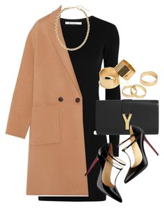 """""""Style #9528"""" by vany-alvarado ❤ liked on Polyvore featuring T By Alexander Wang, Yves Saint Laurent, Theory, Christian Louboutin, H&M and Pieces"""