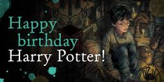 Today we would like to wish a very happy birthday to Harry Potter and @jk_rowling! #HappyBirthdayHarryPotter