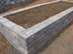 raised bed made out of stone - Flower Beds and Gardens Stone Raised Beds, Cedar Raised Garden Beds, Raised Vegetable Gardens, Raised Flower Beds, Raised Planter, Garden Pavers, Garden Edging, Garden Stones, Paver Edging