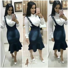 Uni Outfits, Cowgirl Outfits, Tumblr Outfits, Church Outfits, Skirt Outfits, Cool Outfits, Demin Dress, Mode Rock, Wardrobe Makeover