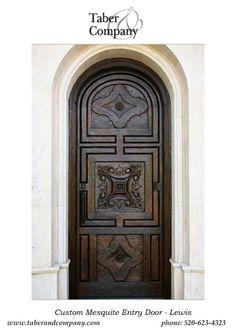 Delightful Solid Wood Doors Spanish Mediterranean Handcarved Custom Wood Door With  Handforged Iron Hinges And Door Pull