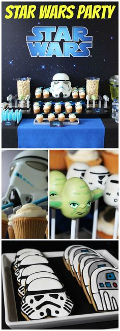 How cool is this Star Wars birthday party?! See more party ideas at CatchMyParty.com!