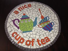 Mosaic table.  I just LOVE this!  They did such a great job!  I have GOT to do this some day!