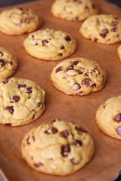 Chocolate Chip Cookies It seems strange that I've managed to write seven books without one plain chocolate chip cookie (by which I mean a plain cookie with chocolate chips in it). It's true that the Totally Chocolate Chocolate Chip Cookie made an appearance once, and it's only buoyed up by its success that I've felt confident enough to create this one.