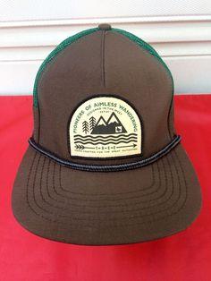 0eafbf5175c572 HippyTree Foundation PIONEERS OF AIMLESS WANDERING Mesh Trucker Hat Brown  Green #HippyTree #TruckerHat Snapback