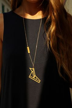hermes necklace // wooden pendant - Hermes, Messenger of Gods and Conductor of souls, has been identified with speed and mischief. Wear Hermes's winged sandals and move yourself as quickly as you can! Hermes Necklace, Arrow Necklace, Gold Necklace, Pendant, How To Wear, Accessories, Jewelry, Sandals, Clothes