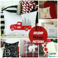 12 Holiday Pillow Patterns