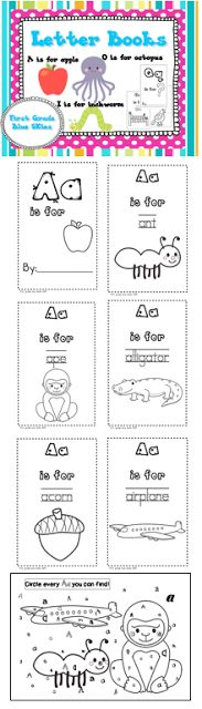 Letter Books great for beginning of the year!