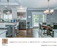 Touches of silver #Kitchen #Dining #GreatRoom #InteriorDesign by #GCH