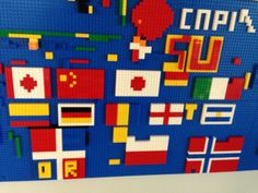 Play with our wall made of LEGO® bricks for your next stay! Submit the LEGO masterpieces you make at YOTEL to win! We post our favorites every Monday! #masterpiecemonday #yotel #yotelny #nyc #LEGO #play #mylegomasterpiece #flags #countryflags #SU