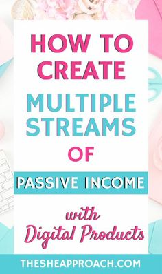 If you are a blogger and you have the goal to creat multiple streams of passive income then you should read this post!  I will help you to create multiple streams of passive income with Digital Products!  #digitalproducts #makemoneyonline #bloggingtips