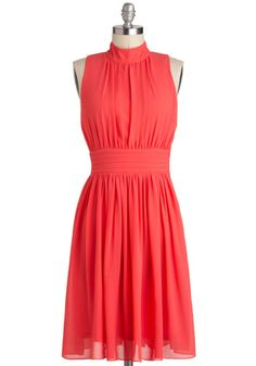 {Windy City Dress in Coral}