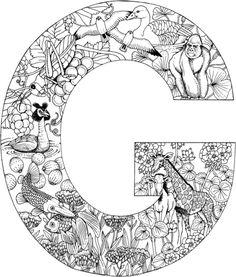 Der Buchstabe G Ausmalbild