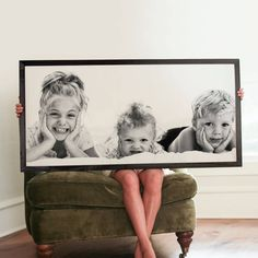 Make our wood framed signs your own with your favorite photos or quotes. Available across all of our size and finish options from medium to extra large. Smallwood Home, Family Room Walls, Engineer Prints, White Home Decor, Photographing Kids, Home Photo, Photo Canvas, Photo Displays, Custom Wood