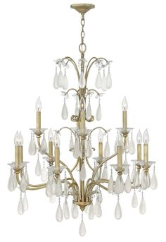 View the Fredrick Ramond FR40318 12 Light 2 Tier Candle Style Crystal Accent Chandelier from the Francesca Collection at LightingDirect.com.