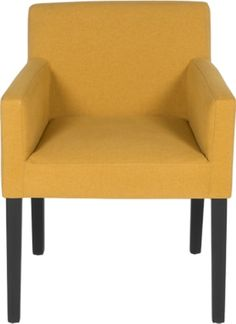 Wilton Carver Dining Chair, Yolk Yellow and Birch Black Tub Chair, Birch, Accent Chairs, Dining Chairs, Beige, Retro, Yellow, Delivery, Furniture