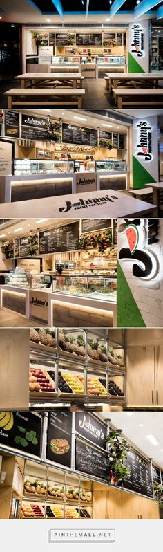Johnny's Fruit Factory by Mima Design, Sydney – Australia »  Retail Design Blog - created via https://pinthemall.net                                                                                                                                                                                 Más