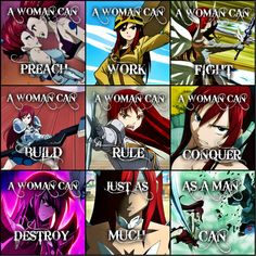 ... Fairy Tail .:A Woman Can:.