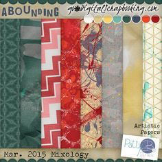 Artistic Papers: This full size (300dpi, papers 3600px x 3600px) quality checked scrapbooking kit contains 8 papers. Links for PattyB Scraps: BLOG,FACEBOOKpage and NEWSLETTERsign up. Twitter, Pinterest, Google Plus ©2015 PattyB Scraps (All Rights Reserved)