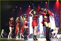 Fifth Harmony Slays The Show At San Jose's Triple Ho Holiday Concert: Photo #901354. Fifth Harmony sizzle in red on stage while performing at the 99.7 NOW! Triple Ho Show held at SAP Center on Wednesday night (December 2) in San Jose, Calif.    The…