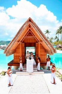 blue lagoon wedding chapel bora bora | First Choice Travel and Cruise - Bora Bora Weddings