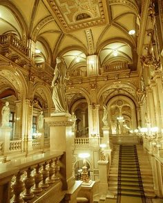Interior of Vienna Opera House - Vienna - Austria Classical Architecture, Beautiful Architecture, Beautiful Buildings, Architecture Design, The Places Youll Go, Places To See, Wonderful Places, Beautiful Places, Hallstatt