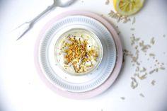 Tropical mango-lemon oat porridge