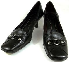 d3c09616ff9 Cole Haan Shoes Womens Size 7.5 B Black Leather Kitten Heels  ColeHaan   KittenHeels Cole